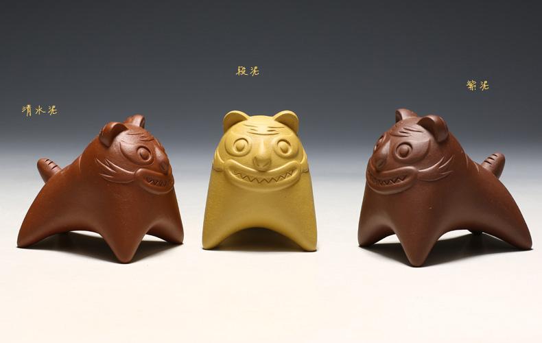 【小老虎】紫砂茶宠精品 茶玩 紫砂把件 三种泥料可选